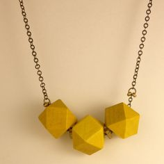 Fab.com | Polyhedron Necklace Yellow