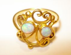 Antiker Schmuck Jugendstil Opal Ring Victorian Art