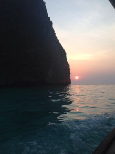 Sunset at koh phi phi island thailand