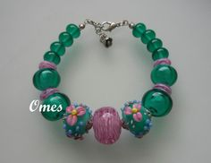 LAMPWORK  BRACELET by omes37 on Etsy, $25.00