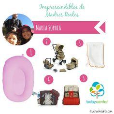 """""""Hola! Soy Maria Sophia, diseñadora, pero desde que nació mi Laura Maria (que ya tiene 21 meses) mi trabajo es ser mami full time. 1. Mi primer imprescindible sin duda fue el Baby Softeeze para el baño!!  2. El cochecito de bebé @Concord.official Neo  3. El cambiador hinchable de IKEA España Genial!  4. La sillita de comer de Kids Zone de Jané  5. Blogs y páginas de maternidad @babycenter"""