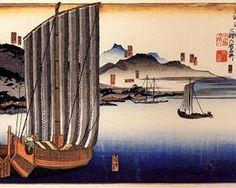 Sailing boat - Utagawa Kuniyoshi