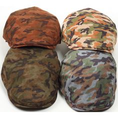N173 Camouflage Military Newsboy Cap Cabbie Camo Hunting Flat Gatsby Driving Hat