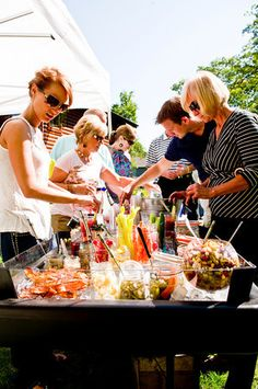 Build your own Bloody Mary bar. This is the best list I've seen! Even included the old bay.