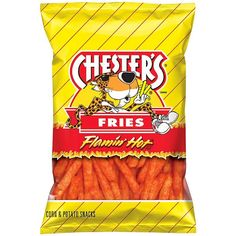 Chester's Flamin' Hot Fries Corn Potato Snacks 4.38 oz ($50) ❤ liked on Polyvore featuring food, food and drink, snacks, food & drinks, food // drinks and filler