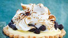 Lime & Blackberry Italian Meringue Pie Recipe