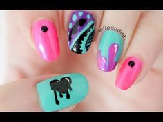 Tutorial for Graffiti Nails - http://www.nailtech6.com/graffiti-nails-tutorial/