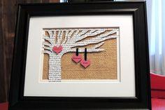 Personalized Wedding Gift - Wedding Song Lyrics 3D Paper Tree - $35.00, via Etsy.