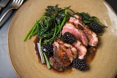 Another dinner party hit! Five-Spice Duck Breast With Blackberries Recipe - NYT Cooking Muscovy Duck, Blackberry Recipes, Blackberry Sauce, Duck Recipes, Game Recipes, Asian, Fresco, Main Dishes, Spicy