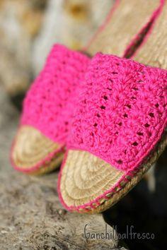 Ganchillo al fresco Alpargatas de crochet