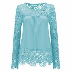 24a0320a9 2017 Lace Elegant Blouse Shirt Women Tops XXXXL 5XL Plus Size Fashion Sexy  Blusas Hollow Out Clothing Harajuku Camisa Feminina