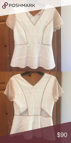 Rebecca Taylor Peplum Top Size 8 Rebecca Taylor peplum top with cut out details. Perfect day-to-night top! Work appropriate under a blazer and great for drinks after work. Rebecca Taylor Tops Blouses