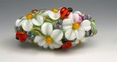 $39.99 Large Daisy and Ladybug Summer Focal for a pendant!