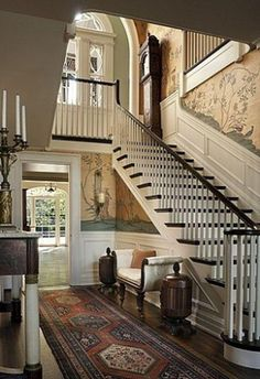 railing with wooden spindles