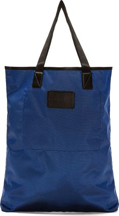Marc by Marc Jacobs - Navy Luster Tote Bag | SSENSE