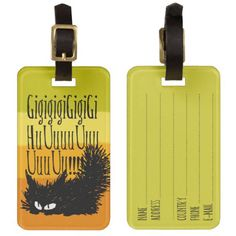 Growling Cat Tag For Luggage ! :) #Cat #LuggageTag #Orange #pfft #Zazzle