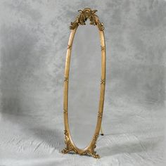 This Cheval Dressing Mirror has a French traditional style. A timeless classic to create the most elegant of bedrooms. Finished in Antique Gold and a Stand at the Back Silver Floor Mirror, Stand Up Mirror, Floor Standing Mirror, Shabby Chic Mirror, Mirror House, Cheval Mirror, Dressing Table Mirror, French Antiques, Antique Gold