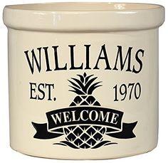 Whitehall Products Pineapple Welcome Crock Planter 2 gallon Black >>> Click image for more details.