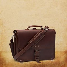 this is the one: Chestnut brown, Medium slim briefcase w/ super durable pigskin lining, courtesy of Saddleback