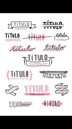 Handlettering, Bullet Journal - on We Heart It Bullet Journal Headers, Bullet Journal Font, Journal Fonts, Bullet Journal Aesthetic, Journal Layout, Back To School Bullet Journal, Lettering Tutorial, Pretty Notes, Study Notes