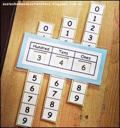 Suzie's Home Education Ideas: Printable Place Value Slider