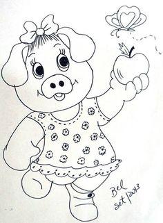 riscos para pintura porquinha - Pesquisa Google