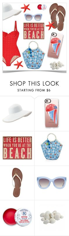 """""""Casetify Contest"""" by jpetersen ❤ liked on Polyvore featuring Eric Javits, Casetify, WALL, John Robshaw, Tory Burch, Alice + Olivia, Rosebud Lip Balm and beachstyle"""