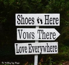 Beach Wedding Sign Large Shoes Optional Hand Painted NO VINYL Directional Wood Wedding Decor Nautical Shoes Here Vows There Love Everywhere Guest Road Directional Dunes Pointer Arrow Marker Rustic Wood Signs Arrows Direction Outdoor Wood Stake Kick Off Lose Shoes Destination Weddings Photo Props Sandy Toes Feet