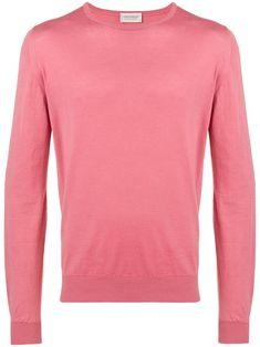 09295ae6 JOHN SMEDLEY JOHN SMEDLEY ROUND NECK JUMPER - PINK. #johnsmedley #cloth.  ModeSens Men