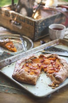 apricot rhubarb galette w/ scottish shortbread crust [adventures in cooking]