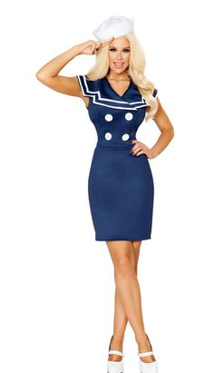 d684c8d0b7f4 10122 Classy Sailor Woman Costume Character Halloween Costumes, Mermaid  Halloween Costumes, Dresses For Work