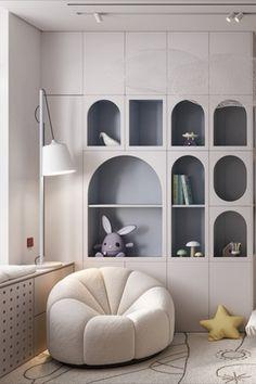 Luxury Kids Bedroom, Cool Kids Bedrooms, Kids Bedroom Designs, Kids Room Design, Ideas Habitaciones, Bedroom Corner, Wall Decor Design, Kid Spaces, Room Interior