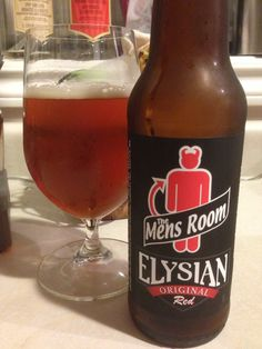 Men's Room Red - Amber Ale by Elysian Brewing is a smooth with a tad of hop