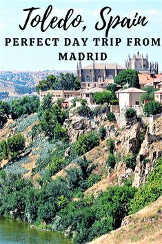Are you looking for a perfect day trip from Madrid? Hop on the train and spend one day in Toledo, Spain. Use this guide to find out how to get there and what the best things to do in Toledo, Spain are! Spain Travel Guide, Europe Travel Tips, European Travel, Travel Guides, Travel Advice, Travel Destinations, Spain Places To Visit, Cool Places To Visit, Madrid Travel