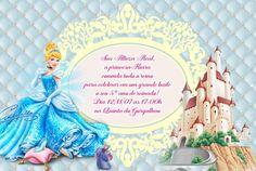 Convite digital personalizado Cinderela 026