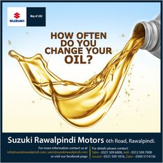 How often do you change your OIL? Suzuki Wagon R, Way Of Life, You Changed, Oil, Butter