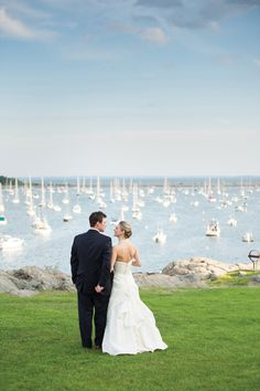 Nautical perfection | Nautical Marblehead Wedding from Ned Jackson Photography  Read more - http://www.stylemepretty.com/massachusetts-weddings/2013/08/22/nautical-marblehead-wedding-from-ned-jackson-photography/