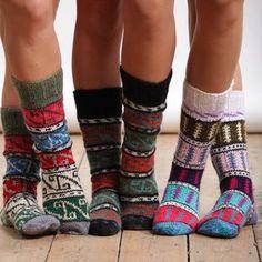 Long & Fuzzy Socks-Cute socks to wear under boots for the winter