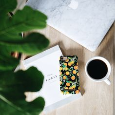 Tropical Fall by lovely @emmamelins - Fashion case phone cases iphone inspiration iDeal of Sweden #oranges #apelsiner #fruit #gold #leaf #fashion #inspo #iphone