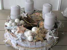 16x Neutrale Kerstdecoraties : Die 16 besten bilder von floristik advent wreaths christmas