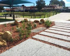 Landscape Design & Construction- Landscapers Perth- City Limits Landscapes- Exposed Aggregate Concrete Steppers