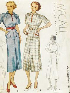 McCall 8707 | 1936 Ladies' & Misses' Dress