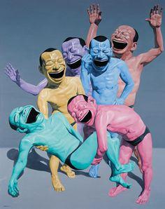 Yue Minjun, entombment on ArtStack #yue-minjun-yue-min-jun #art   This speaks to me of abandon.