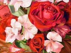 Scent Of A Rose original oil painting by Marilyn Nolan-Johnson