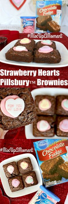 Time to MixUpAMoment and celebrate Valentine's Day with my Strawberry Hearts Pillsbury™ Brownies  Hope you love them------>http://freebies4mom.com/hearts ad