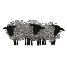 Fresh Fleeces fine silver wire and sterling silver sheep brooch jewellery facing right (3).jpg