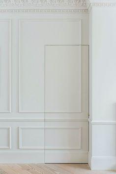 Undercover Architecture - jib door - moulding - hidden door Door Molding, Doors, Bookcase Door, Hidden Doors In Walls, Classic Doors, Custom Homes, Door Design, Wall Paneling, Secret Door