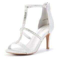 b15d4857798a54 DREAM PAIRS Women s Dolce Fashion Stilettos Open Toe Pump Heel Sandals