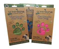 Greenbone 75 Count Tie Handle Waste Bags Assorted colors >>> You can find more details by visiting the image link. This is an Amazon Affiliate links.