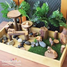 Our Sand & Sorting Tray is ideal for creating a small world animal play box. Montessori Activities, Preschool Activities, Early Childhood Centre, Small World Play, Reggio Emilia, Play Spaces, Backyard For Kids, Imaginative Play, Diy Toys